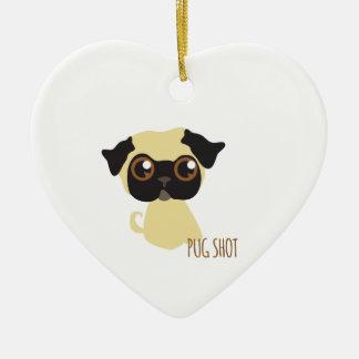 Pug Shot Ornaments
