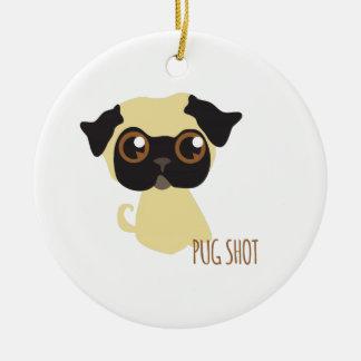 Pug Shot Christmas Ornament