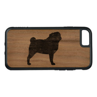 Pug Silhouette Carved iPhone 8/7 Case