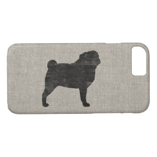 Pug Silhouette iPhone 8/7 Case