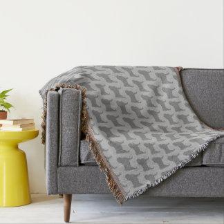 Pug Silhouettes Pattern Throw Blanket