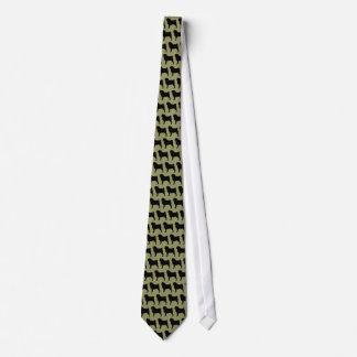 Pug Silhouettes Tie