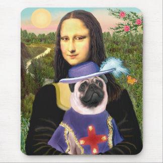 Pug Sir - Mona Lisa - Customized Mouse Pad