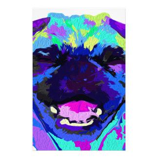 Pug Smiling Stationery Design