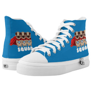 Pug Squad High Top Sneakers Shoes