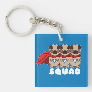 Pug Squad Pugs To The Rescue Keychain