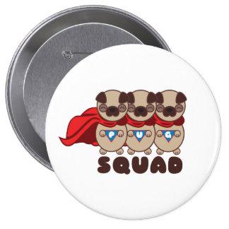 Pug Squad Round Button