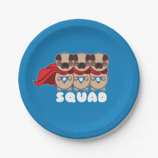 Pug Squad To The Rescue Party Plates 7 Inch Paper Plate