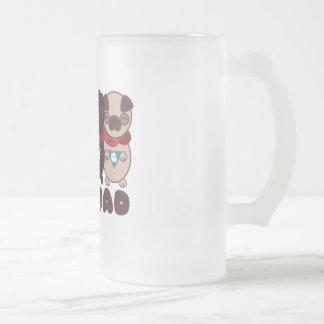 Pug Squad with Black Pug Frosted Mug