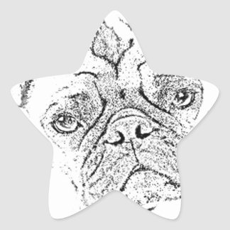 """Pug"" Star Sticker"