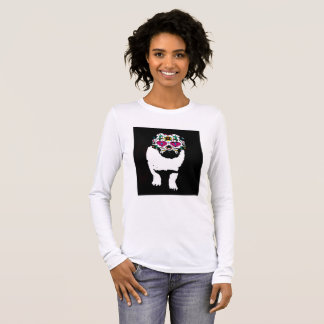 Pug Sugar Skull Long Sleeve T-Shirt