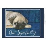 Pug Sympathy Card