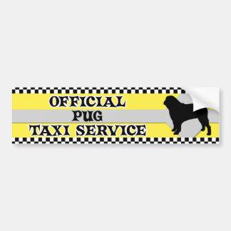 Pug Taxi Service Bumper Sticker Car Bumper Sticker