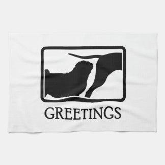 Pug Tea Towel