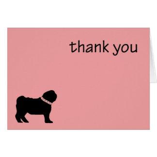 Pug Thank you Card