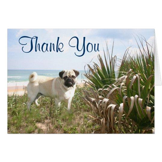 Pug Thank You Card Beachgrass