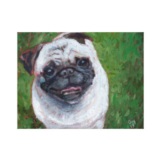 Pug the Sequel Giclee Stretched Canvas Print