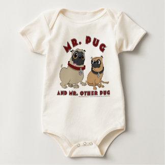 Pug Toddler Baby Bodysuit