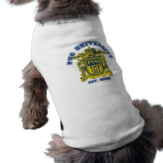 Pug University Blue and Gold Shirt