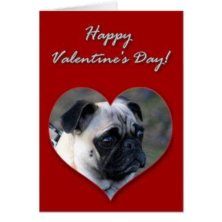 Pug  Valentines Day Card