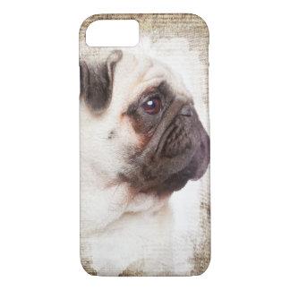 Pug Vintage Portrait iPhone 7 Case