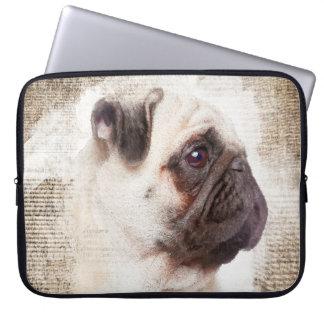 Pug Vintage Portrait Laptop Sleeve