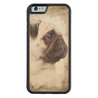 Pug Vintage Portrait Maple iPhone 6 Bumper Case