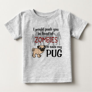 Pug vs Zombies Baby T-Shirt
