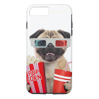 Pug watching a movie iPhone 8 plus/7 plus case