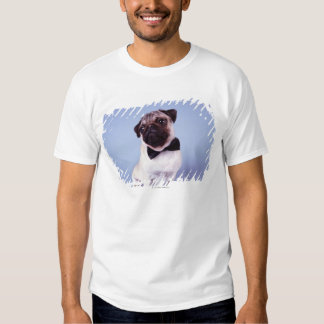 Pug wearing bow tie, close-up t-shirt