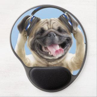 Pug with headphones,pug ,pet gel mouse mat