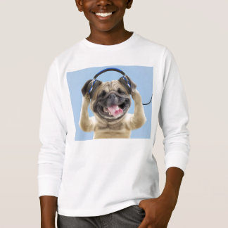 Pug with headphones,pug ,pet T-Shirt