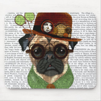 Pug with Steampunk Bowler Hat Mouse Pad