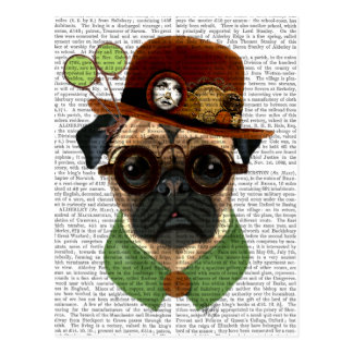 Pug with Steampunk Bowler Hat Postcard