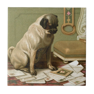 Pug with the Post Tile