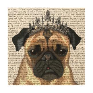 Pug With Tiara Wood Wall Decor