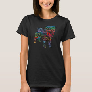 Pug word collage - in color T-Shirt