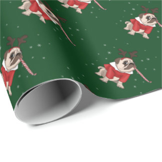 Pug Xmas Wrapping Paper