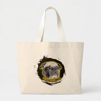 Pug you...! large tote bag