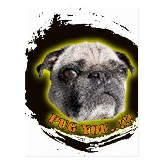Pug you...! postcard