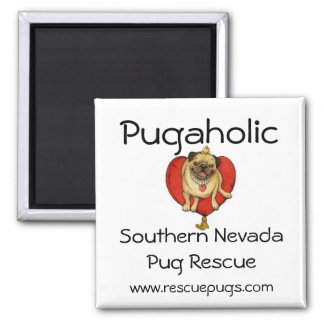 Pugaholic, Southern NevadaPug ... Square Magnet