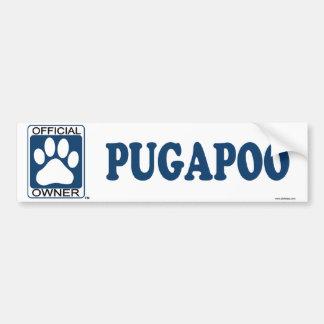 Pugapoo Blue Bumper Sticker