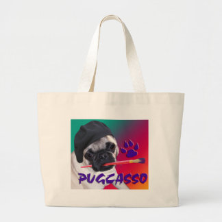 PUGCASSO JUMBO TOTE BAG