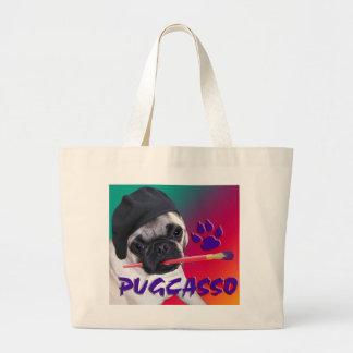 Pugcasso Tote Jumbo Tote Bag