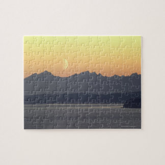 Puget Sound Moonset Jigsaw Puzzle