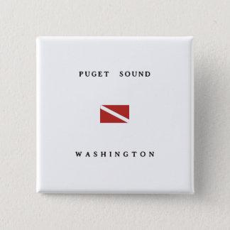 Puget Sound Washington Scuba Dive Flag 15 Cm Square Badge