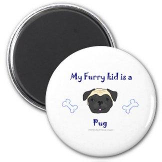 PugFawn 6 Cm Round Magnet