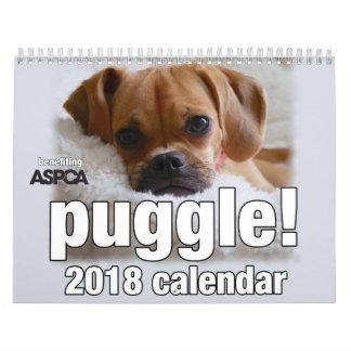 Puggle! 2018 Calendar