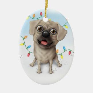 Puggle 2 - Christmas Ornament