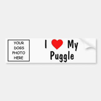 Puggle Bumper Sticker